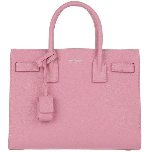 56210873bf5 Saint Laurent Handle Bag - Sac De Jour Baby Tote Indian Pink - in rose...  ($2,120) ❤ liked on Polyvore featuring bags, handba… | Lovely Polyvore  Sets!!