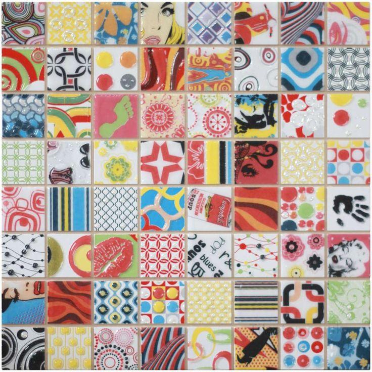 Retro Amp Pop Art Andy Warhol Style Mosaics Dune Andy