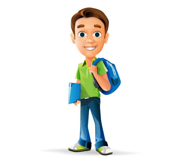 Schoolboy vector character featuring friendly look and feel. We have created a vector character that will suit both web and print projects. Moreover, all kind of businesses that focus on educational programs could benefit by using our vector character. Continue reading →
