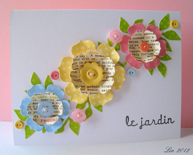 Flower punches and dies. Very pretty! Stampin Up
