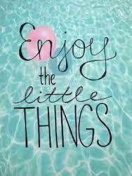 apreciar as pequenas coisas