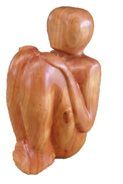Sitting Man Wood - Macrocarpa