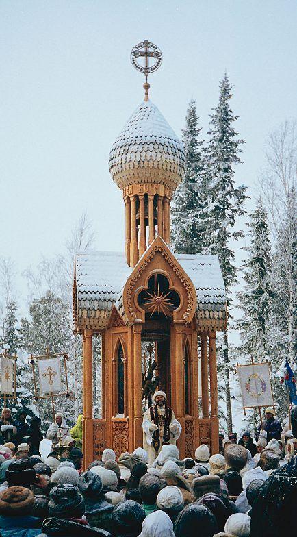 mini-chapel/reflection place   (Petropavlovka/ Russia)