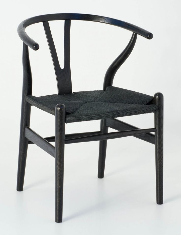 Milano Republic Furniture - Replica Hans Wegner Wishbone Chair - Black Frame (grain visible) Black seat - Ash Timber, $195.00 (http://www.milanorepublicfurniture.com.au/replica-hans-wegner-wishbone-chair-black-frame-grain-visible-black-seat-ash-timber/)