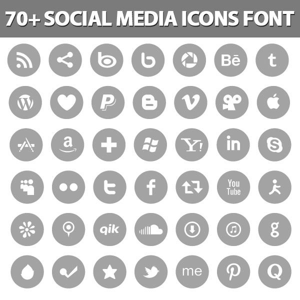 social media icons - love the grey and white and that they're little circles instead of squares. also like the twitter bird instead of the 't'