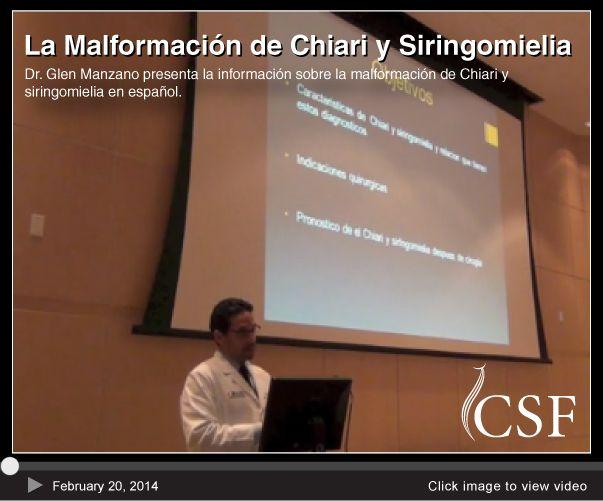 """Video Lecture-  2.20.14 """"La Malformación de Chiari y Siringomielia"""""""