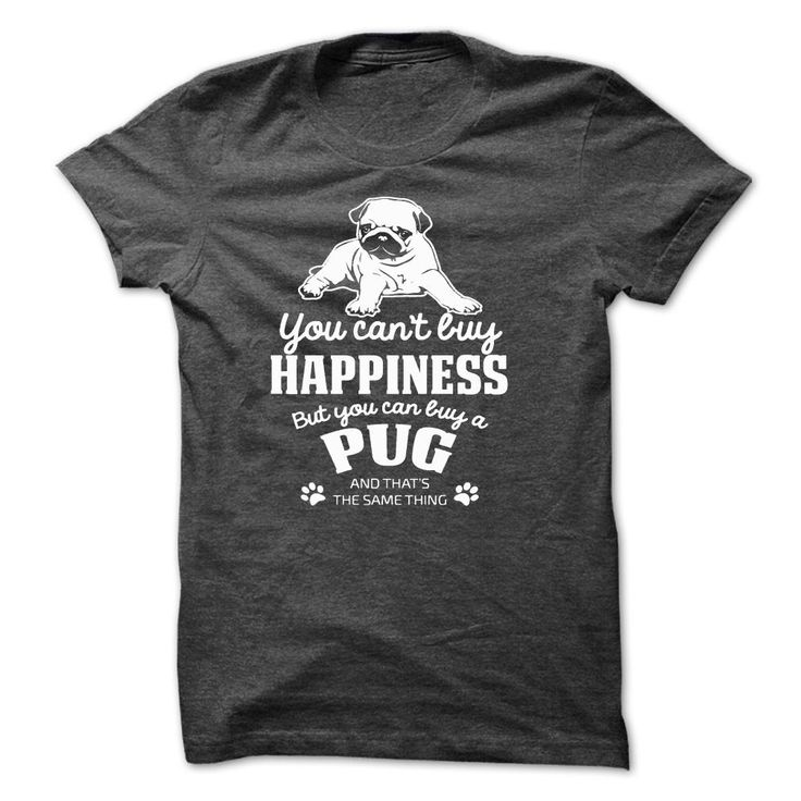 You Can't Buy Happiness But You Can buy a Pug #pug @dogs
