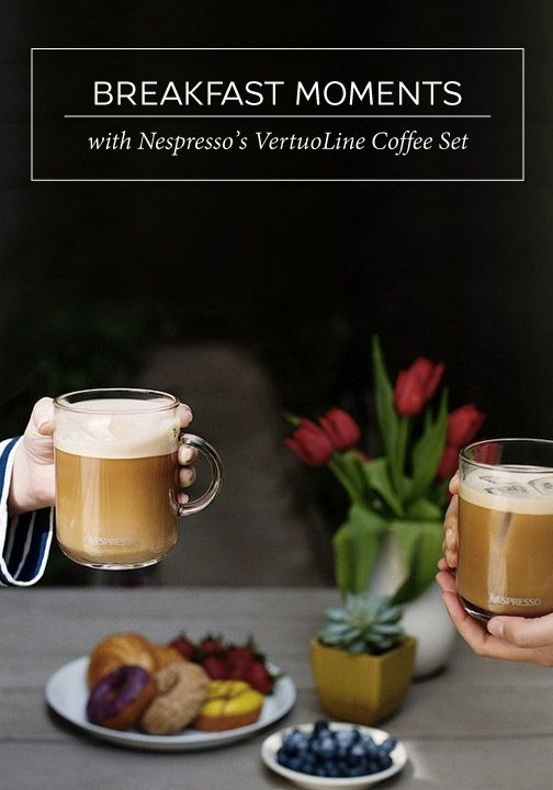 Enjoy your favorite bold Nespresso brew by serving it in a unique and stylish glass from the VertuoLine Coffee Set. The robust design will allow you to savor every flavorful note as you enjoy your breakfast in the morning.