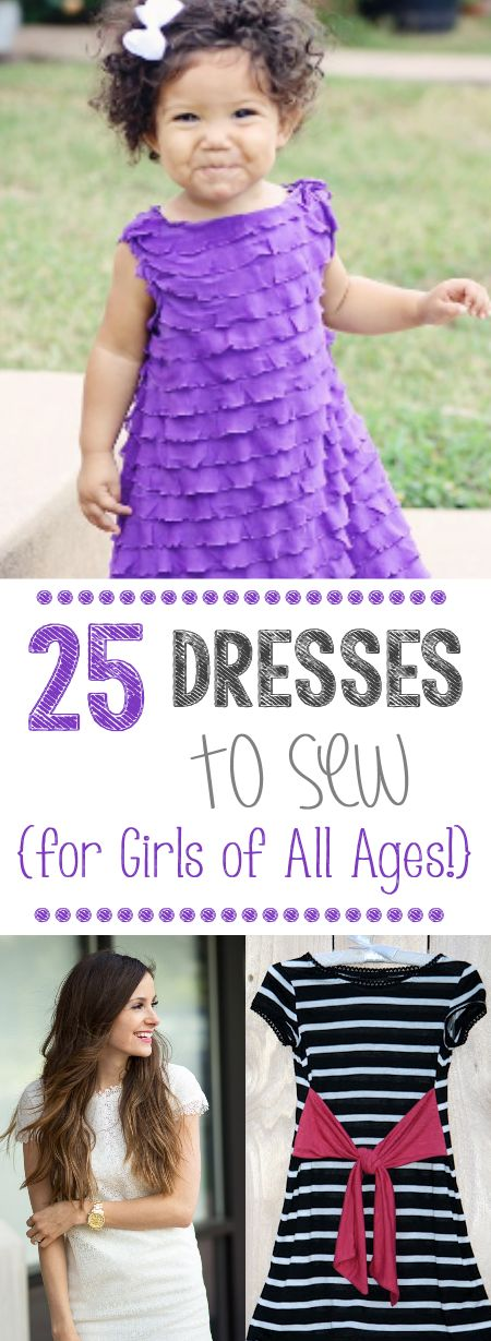 25 Dress Patterns to Sew-for baby, girls and women