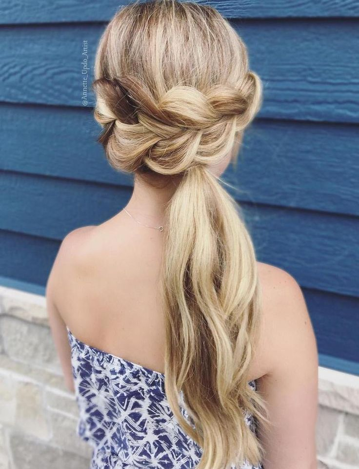 Braided ponytail Ideas: 40 cute ponytails with braids - #geflo ...- # geflo #Braided #Ideas #with #ponytail