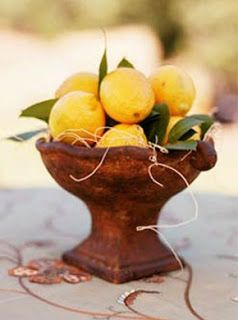 Tuscan  Lemon Wedding Theme