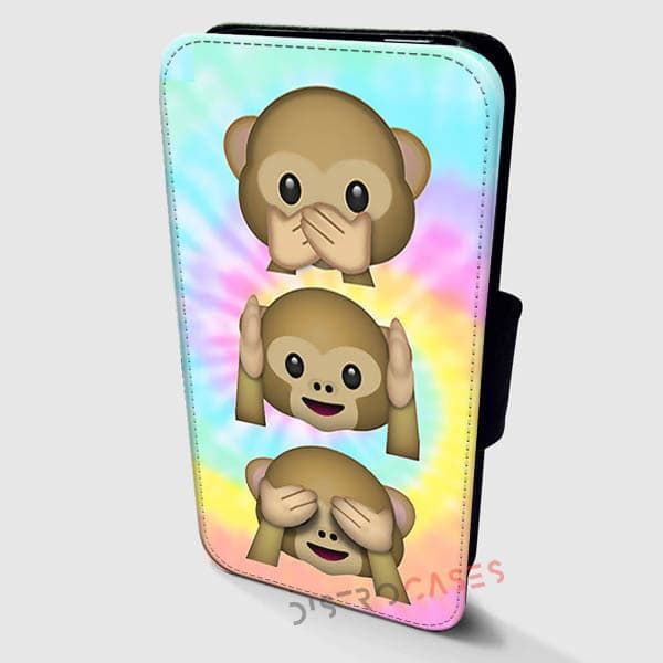 Alien Emoji Monkey Cases Wallet Leather | Distrocases.com - awesome phone cases    Get it here => https://distrocases.com/product/alien-emoji-monkey-cases-wallet-cases-samsung-cases-iphone-wallet-case/