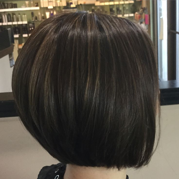 Perfect Bob With A Rich Chocolate Low Light And Babylights
