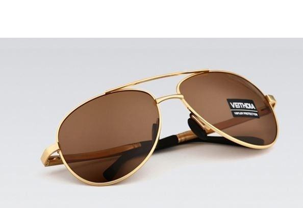 Pánské značkové sluneční brýle polarizované VEITHDIA zlaté barvy Na tento produkt se vztahuje nejen zajímavá sleva, ale také poštovné zdarma! Využij této výhodné nabídky a ušetři na poštovném, stejně jako to udělalo již velké množství …
