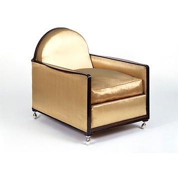 Jacques-Emile RUHLMANN (designer) ,Armchair. This one, although reupholstered, is original to Ruhlmann