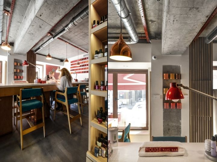 Rouge Nail Bar by Yellow Office architecture, Bucharest - Romania