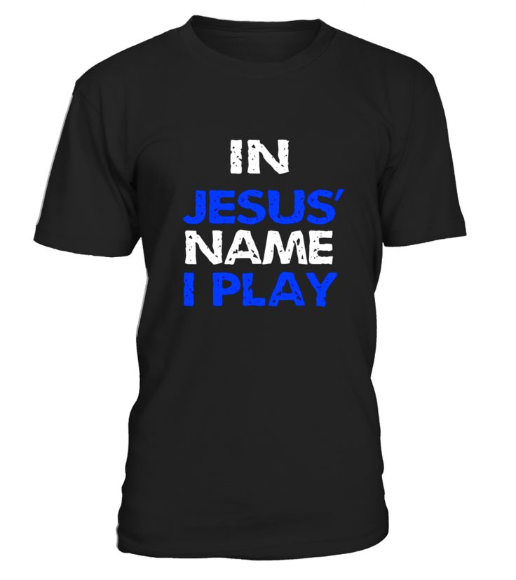 In Jesus' Name I Play Christian T-Shirt Athlete T Shirt  concert t shirts, u2 concert t shirt, concert t shirts for women, jimmy buffett concert t shirt, metallica concert t shirt, 80s concert t shirt, concert t shirt men, concert t shirt women