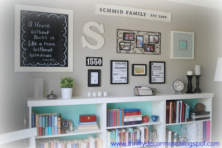 Thrifty Decor Mom: House Tour.  Wall color:  Valspar - Frappe.  Soft Gray. Used throughout her home.