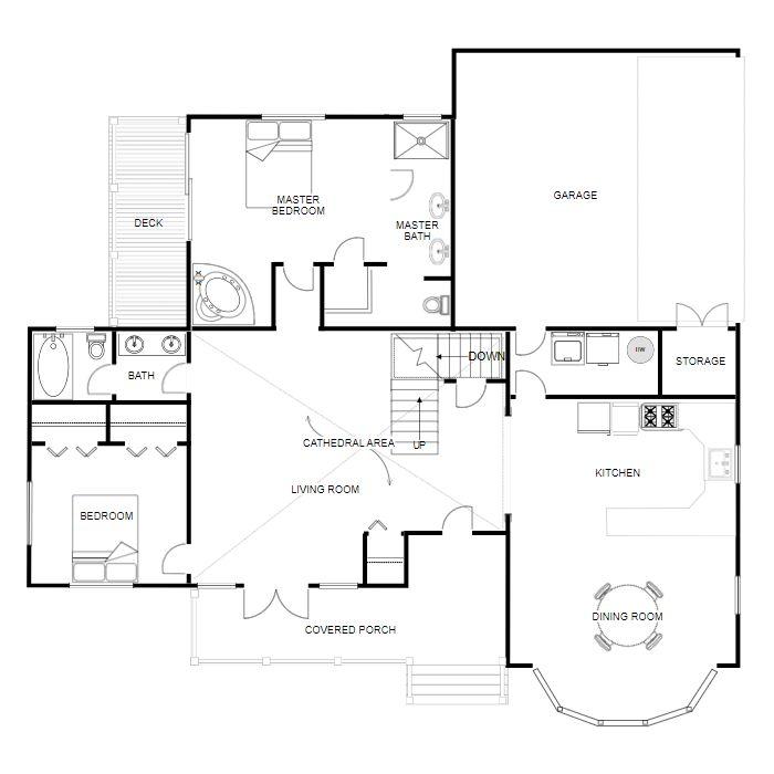 Floor Plan Creator And Designer Free Online Floor Plan App Floor Plan Creator Floor Plan App Simple Floor Plans Room design drawing app