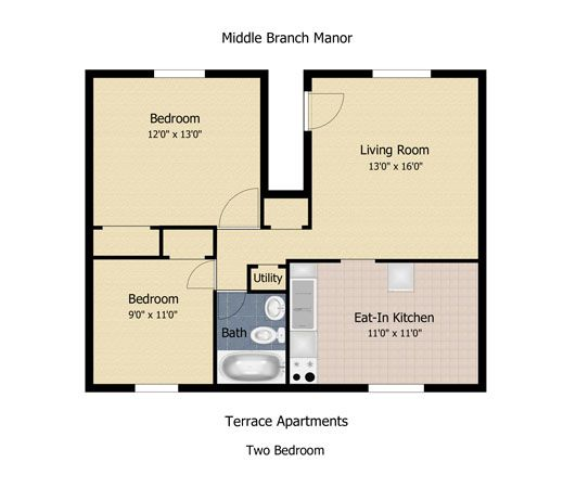 Floorplan: The Communities At Middle Branch Apartments