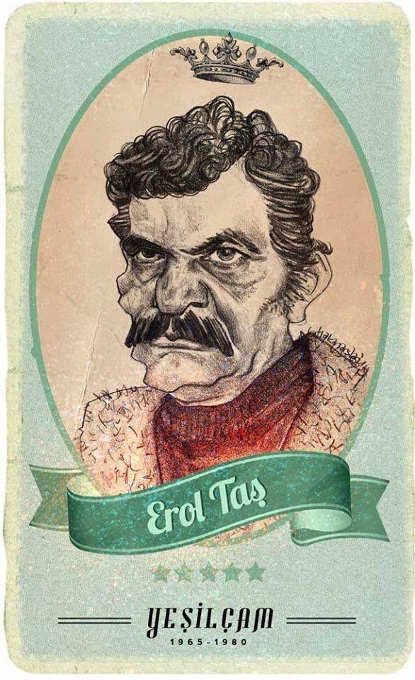 #Yesilcam Turkish Cinema Actor Erol Taş #Illustration by Hakan Arslan