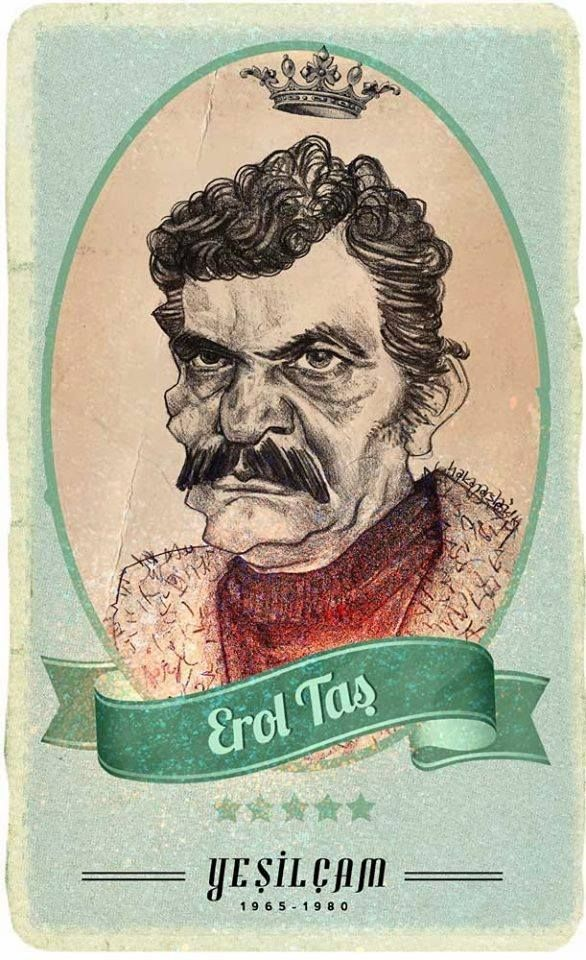 #Yesilcam Turkish Cinema Actor Erol Taş #Illustration by Hakan Arslan
