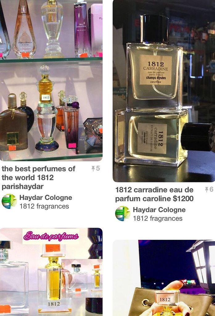 Original eau de parfums 1812 carradine grasse france  EST 1812 parishaydar