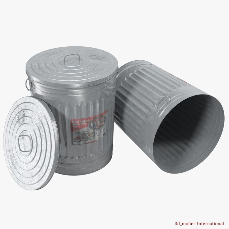 3d model of Galvanized Steel Garbage Can http://www.turbosquid.com/3d-models/galvanized-steel-garbage-2-3d-model/924294?referral=3d_molier-International