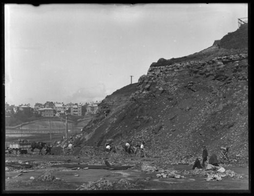 Looking east from old Kings Drive showing St Barnabas Point.... - Auckland Libraries