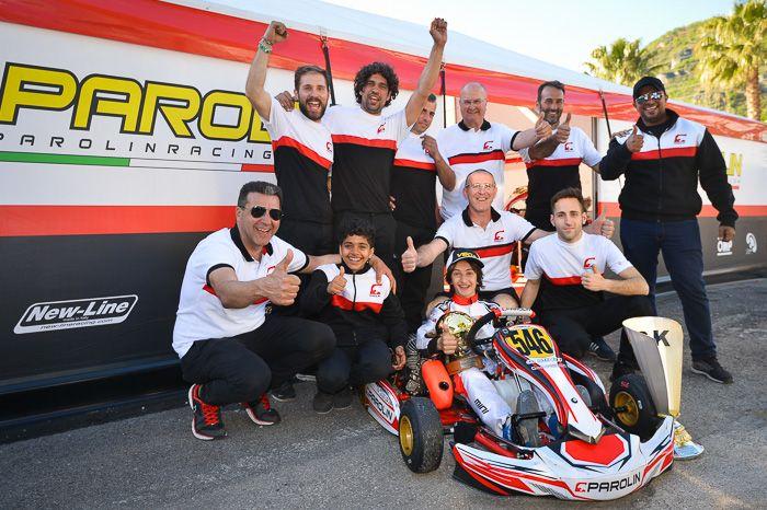 Parolin wins the WSK Super Master Series with Mini