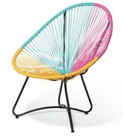 Drum Chair - стильное дизайнерское кресло. Для дома и улицы. Разноцветное кресло. #кресло  #стул #уличная #мебель #для #балкона #веранды #дачи #яркая #разноцветное #радуга