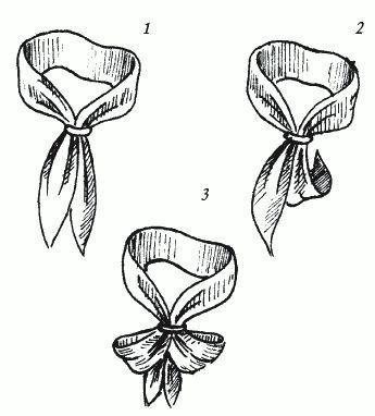 Узел «Королевская лилия». Узлы для галстука, парео и шарфов.