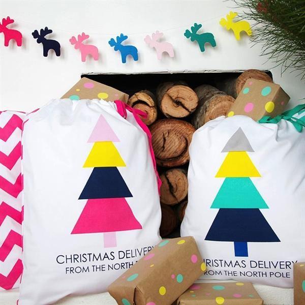Rainbow Reindeer Felt Christmas Garland