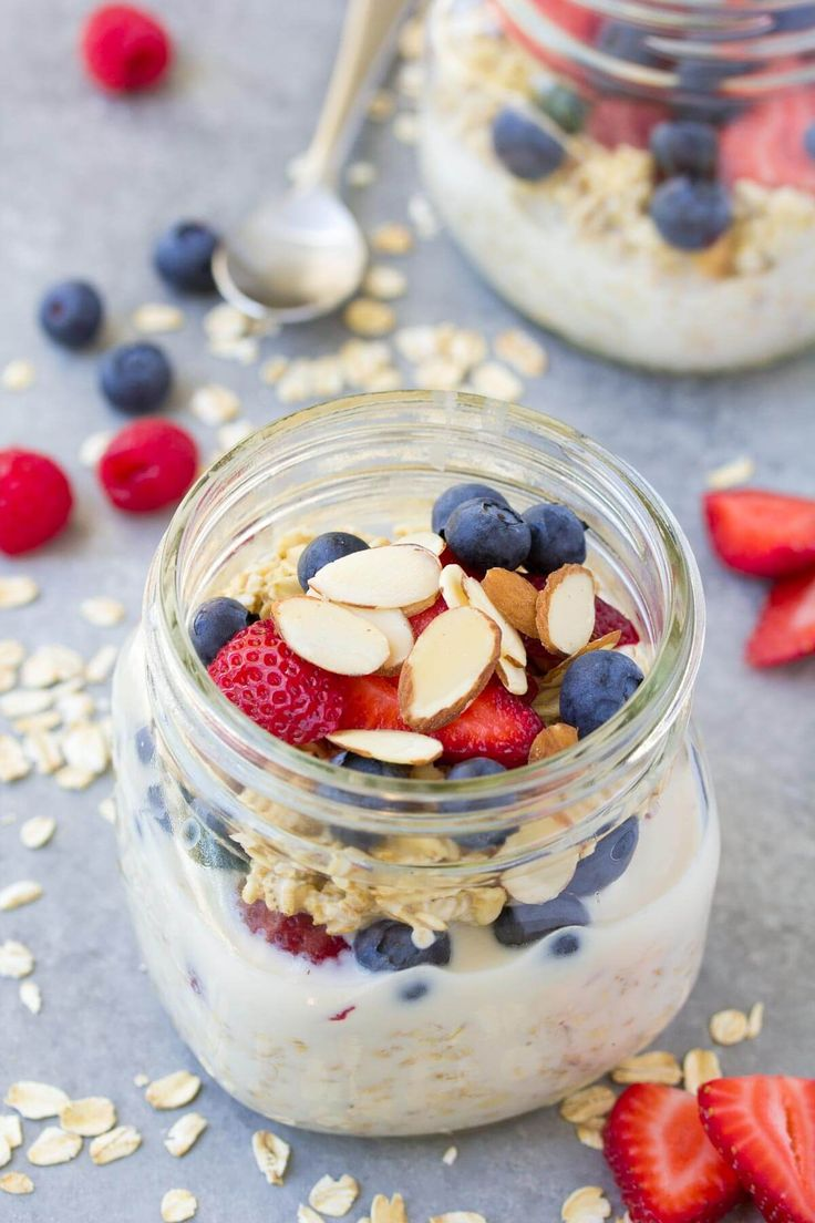 This is our favorite easy overnight oats recipe, with just 4 ingredients and a touch of vanilla. You'll love this healthy make ahead oatmeal!