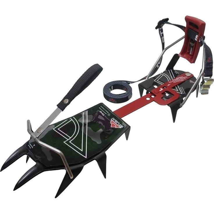 The Stubai Tirol Pro crampon is the best all purpose choice for the advanced mountaineer. The combination of a step-in binding with two tempered spring steel horizontal front points allow you to use t