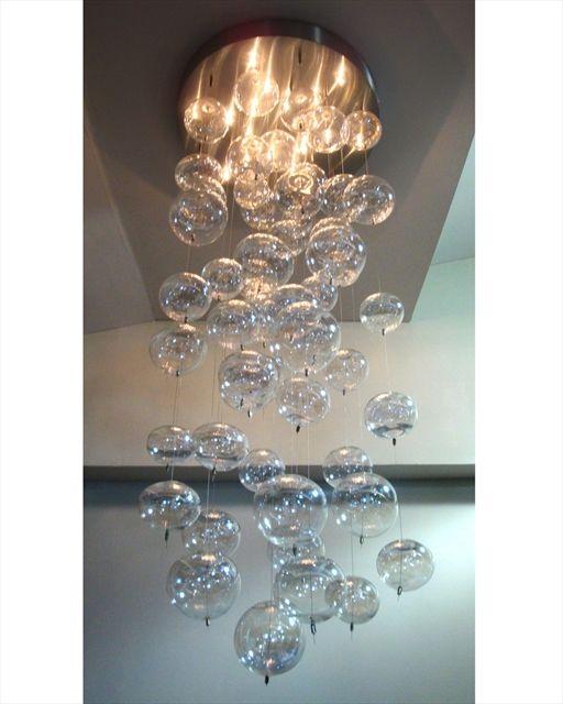 Glass bubble chandelier very unique