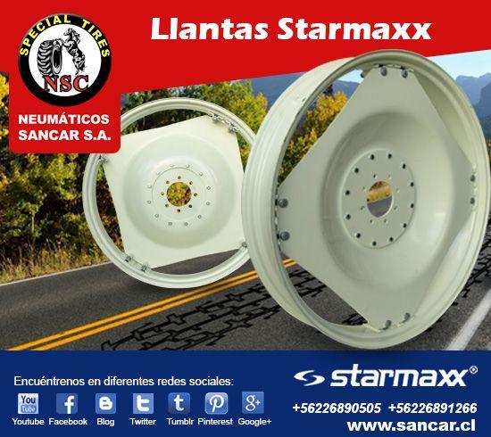 Ofertas Insuperables  Llantas STARMAXX  $441.600.- más IVA www.sancar.cl – ventas@sancar.cl - Antillanca 560 módulo 5 Lo Boza Pudahuel - Teléfono +56226890505   Bascuñán Guerrero 540 Santiago - Teléfono +56226891266