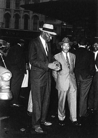 L. Alex Wilson and Dr. King. Montgomery, Al, 1956 | Ernest Withers | http://www.rebekahjacobgallery.com