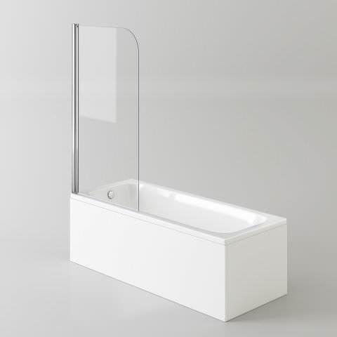 1700mm Straight Bath & Screen - soak.com
