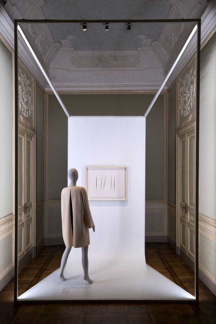 The set up designed by migliore servetto architects for the exhibit bellissima litalia dellalta moda at villa reale in monza is characteriz