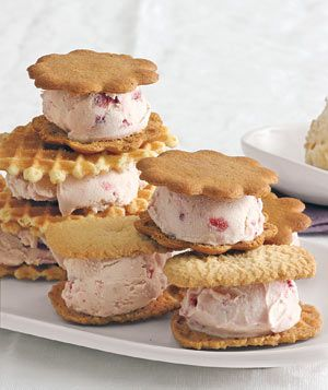 Strawberry Ice Cream Sandwiches: Desserts Recipe, Strawberries Ice Cream, Strawberry Ice Cream, Summer Drinks, Ice Cream Sandwiches, Summer Desserts, Food Recipe, Real Simple, Ice Cream Desserts
