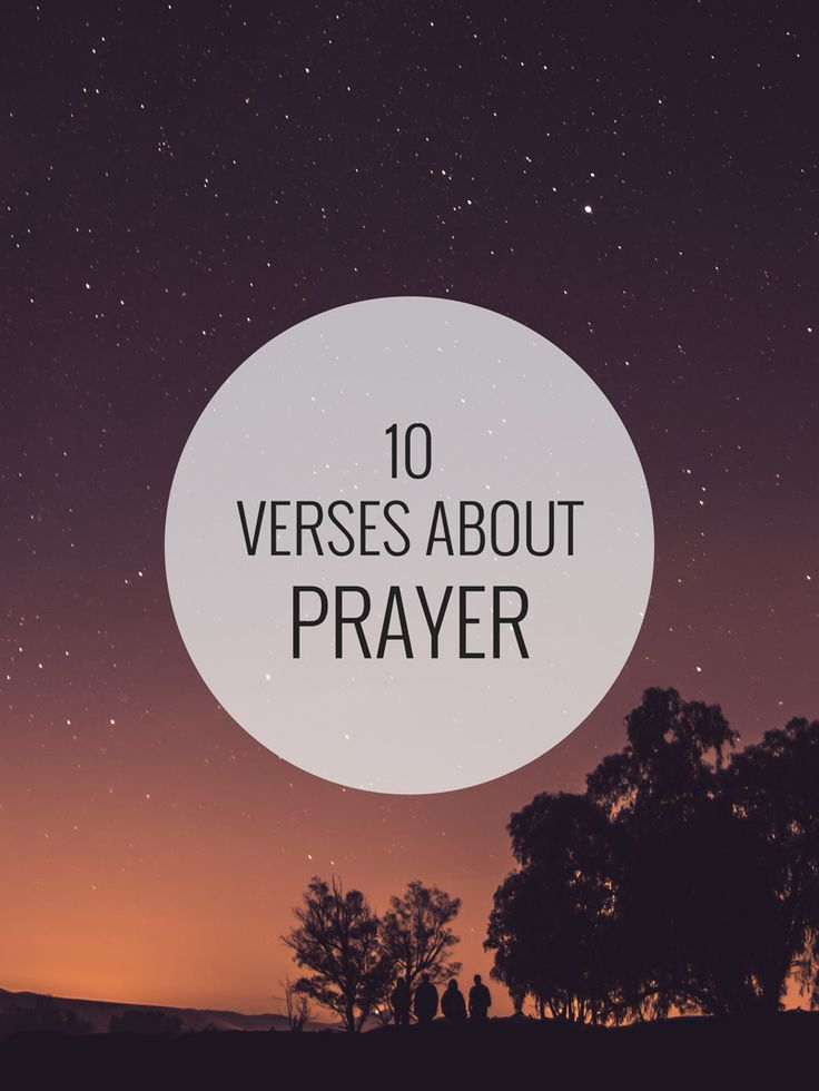 10 verses about prayer – Shine Your Light