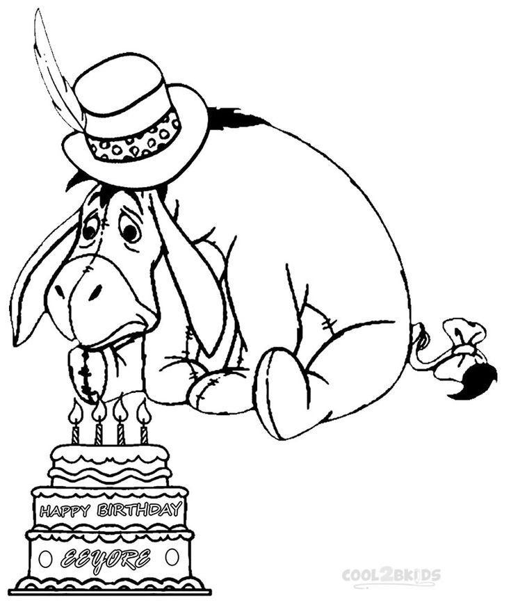 Printable Eeyore Coloring Pages For Kids