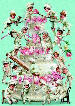 Roger la Borde | Wedding Cake Greeting Card by Barbara Behr