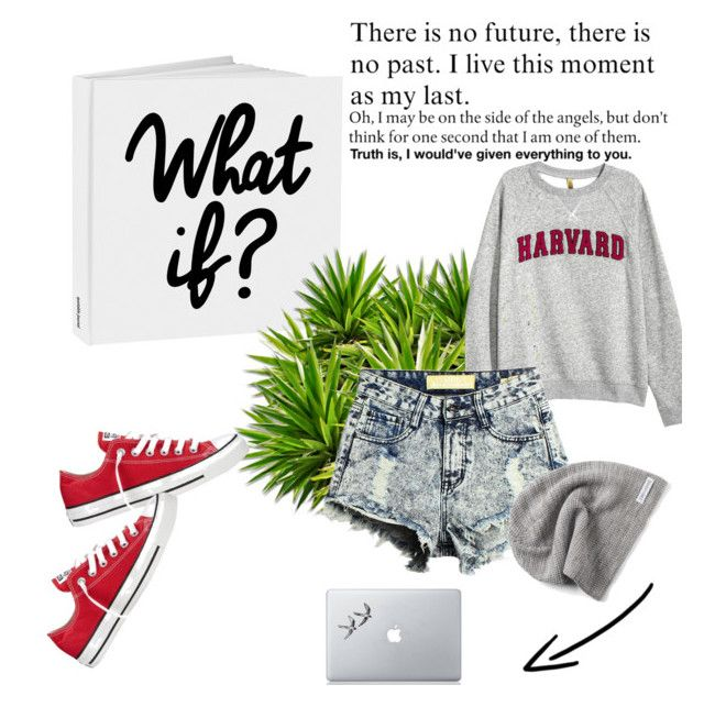 Untitled #1 by coco699 on Polyvore featuring polyvore fashion style H&M Converse Vinyl Revolution clothing