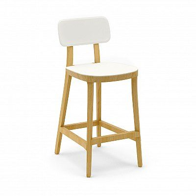 Minimalistic modern Italian design kitchen and bar stools by Infiniti, buy wooden furniture online in UK