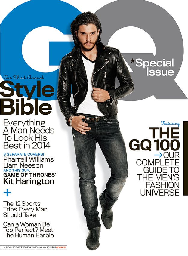 Before we even look inside at the GQ interview let's just point out one thing: Kit is on the cover and he looks amazingly hot.