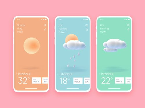 Beautiful weather app UI concepts we wish existed