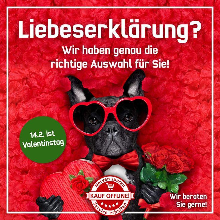Kleine Erinnerung: Mittwoch, 14.02.2018 ist Valentinstag. Habt Euch lieb!