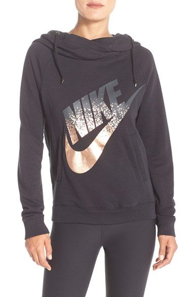 ***$65 Nike 'Rally' Foiled Logo Hoodie available at #Nordstrom